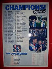 Blackburn Rovers League Champions 1994-95 - souvenir print