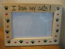 PERSONALIZED - I LOVE MY CATS - pet photo picture frame