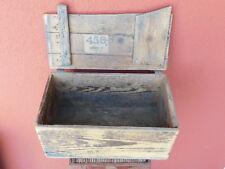 1930 ancien CAISSE BOIS old BOX Holz KISTE 456 leipzig 18 aus dem felde COFFRET