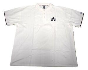 Majestic Big & Tall Mens NHL Colorado Avalanche Polo Shirt NWT 4XL