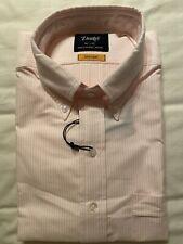 Drakes Pink Striped Oxford Button Down Shirt Size 16.5