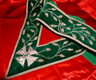 HANDSOME RARE Antique KNIGHTS TEMPLAR SILVER GREEN SASH 1890s Masonic CALIFORNIA