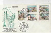 Turkish Federated Cyprus 1975 Lefkosa Slogan Cancel FDC Stamps Cover Ref 23564