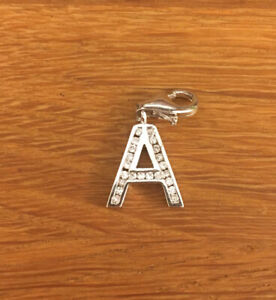 Pretty Sterling Silver Letter A Charm