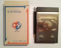 1964-65 NY World's Fair Unisphere Metal Cover Notebook with Pen in original box