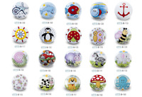 Colourful Ceramic Drawer Pulls Cupboard Door Knobs Porcelain Kids Child Bedroom