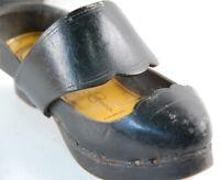 La Semeuse Chaussures à Semelles Bois Sabot Cuir Ancien Enfant Art Populaire