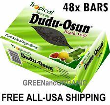 Wholesale Fresh 48 Bars Original Dudu Osun African Black Soap Natural Full Case