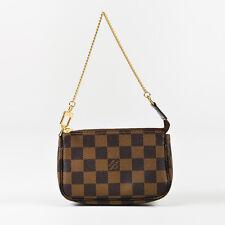 """Louis Vuitton 2010 Brown Coated Canvas Damier Mini """"Pochette Accessoires"""" Bag"""