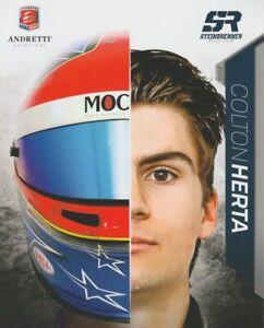 2018 Colton Herta Andretti Steinbrenner Mazda MRTI Indy Lights postcard