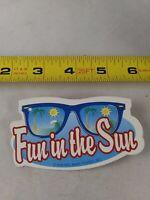 Vintage Wal Mart FUN IN THE SUN Button Pinback Pin *QQ19