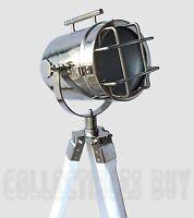 Vintage Marine LED Floor Lamp Home Decor Searchlight studio white tripod Retro