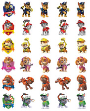 Paw Patrol Stand Up x 30 Cupcake Toppers Edible Wafer Paper Fairy Cake Toppers