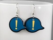 EXCLAMATION MARK EARRINGS blue cute cool earrings kawaii gift for her unique acr