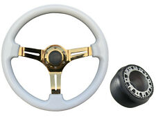 White Gold TS Steering Wheel + Boss Kit fits TOYOTA 047