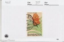 1974 Barbados  #408 Θ used VF,  $1 Orchid, flower type postage stamp