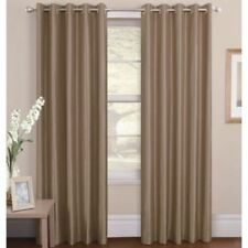 Faux Silk Solid Pattern Curtains & Pelmets