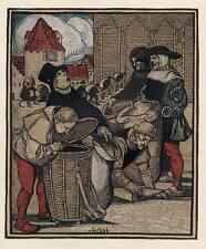 GOTTESGABEN - Rudolf SCHIESTL  Zinkätzung  Jugendstil um 1910