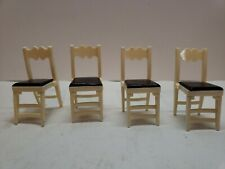 IDEAL VINTAGE DOLLHOUSE DINING ROOM CHAIRS SET