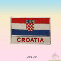 Croatia National Flag with Name Embroidered Iron On Patch Sew On Badge Applique