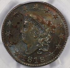 1818 1c Coronet Head Large Cent PCGS MS 63 BN
