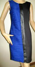 ENFOCUS STUDIOS Women's Size 6 Blue/Black Sheath Career Dress