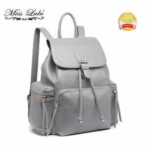 Ladies Retro Designer Backpack School College Women Travel Work Bag Rucksack
