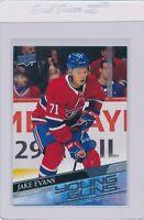 2020-21 Upper Deck Series 1 Jake Evans Young Guns Rookie Canadiens #247 RC (BB)