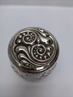 Vintage Glass Avon Jar with Silver Coloured Screw Top Lid - Pre-owned