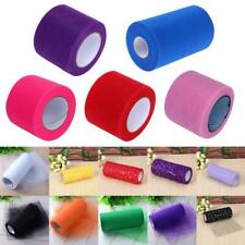"""6""""x 100Yards Tulle Roll Spool Tutu Wedding Gifts Craft Christmas Party for Decor"""