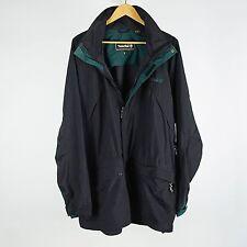 Vintage Timberland Vented Windbreaker Parka Jacket Mens XL Black & Green