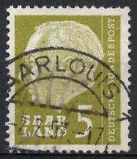 Saar 1957 SG#381, 5f President Heuss Definitive Used #A81309