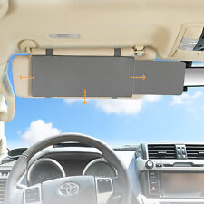 Car Sun Visor Anti-glare Sun Shade Extender & UV Rays Blocker for Travel - Grey