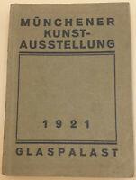Katalog der Münchner Kunstausstellung im Glaspalast München 1921 mit Abbildungen
