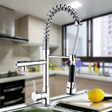 Chrome Kitchen Swivel Spout One Handle Sink Faucet Pull Down Spray Mixer Tap MX