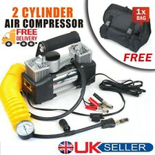 85L/MIN Car Air Compressor 12V 150PSI Tyre Inflator Pump Double Cylinder Bag New