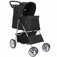Foldable Carrier Strolling Cart Four Wheel Pet Stroller, for Cat, Dog and More