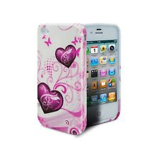 Funda para iPhone 4S/4 Abstracto TPU Gel Hearts Rosa protección