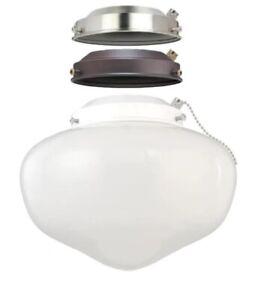 Westinghouse 1-Light LED Schoolhouse Style Ceiling Fan Light Kit