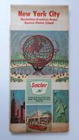 1964 New York City Road Map Sinclair Oil