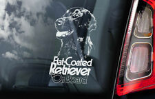 FLAT COATED RETRIEVER Car Sticker, Gun Dog Window Bumper Decal Gift Pet - V03