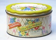 Mackintosh's Golden Toffee Wafers vintage Tin England Floral candy cookie
