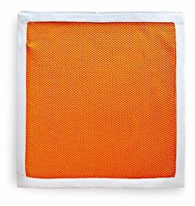 Frederick Thomas knitted pocket square handkerchief in orange FT3175