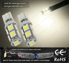 W5W T10 Wedge Warm White 3500k LED Sidelights Parking Interior Light Bulbs 12V