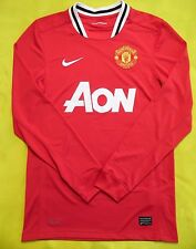 5/5 MANCHESTER UNITED 2011~2012 HOME ORIGINAL FOOTBAL SOCCER JERSEY SHIRT NIKE