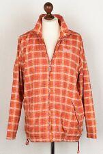 VINTAGE Adidas Jacke Jacket Gr 38 Orange Trefoil Pink Plaidmuster Hip Hop Retro