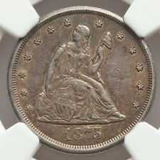 1875-CC 20C AU58 NGC seated liberty