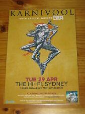KARNIVOOL - 2014  SYDNEY Australia  Tour - Laminated Promotional Poster