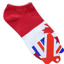 1 paio di Rosso bianco Uomini Moda Maple Leaf Canada Bandiera Pattern Calze A1O0