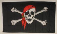 Pirat Kopftuch Flagge 250 x 150 cm wetterfest Fahne Ösen Außen große Hissflagge